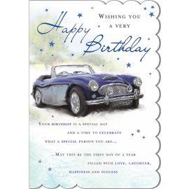 C80540 BIRTHDAY BLUE CAR