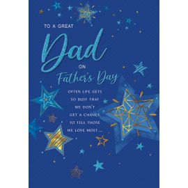 FATHERS DAY DAD STARS ON BLUE