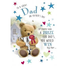 FATHERS DAY DAD BEAR WITH TROPHY