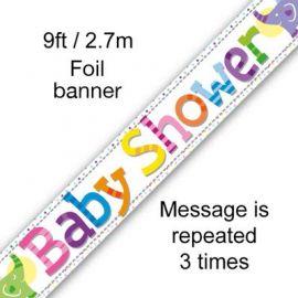 BABY SHOWER BANNER PASTEL 2.7M