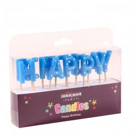 BLUE HAPPY BIRTHDAY CANDLES