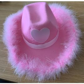 ANY NAME PINK COW GIRL HAT