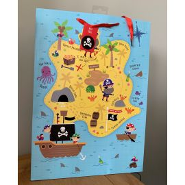 XL GIFT BAG PIRATE TREASURE MAP