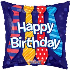 18 INCH HAPPY BIRTHDAY TIE BALLOON