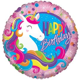 18 INCH BIRTHDAY CLASSIC UNICORN