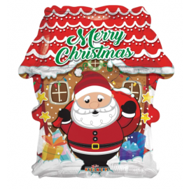 18 INCH SANTA AND HOUSE FOIL