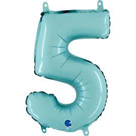14 INCH NUMBER 5 PASTEL BLUE