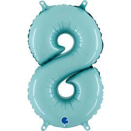 14 INCH NUMBER 8 PASTEL BLUE