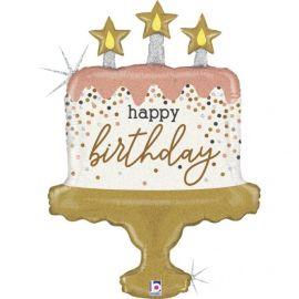 33 INCH BIRTHDAY CAKE CONFETTI 35964GH 8055513359642