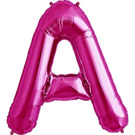 34 INCH LETTER A MAGENTA BALLOON