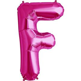 34 INCH LETTER F MAGENTA BALLOON