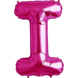 34 INCH LETTER I MAGENTA BALLOON