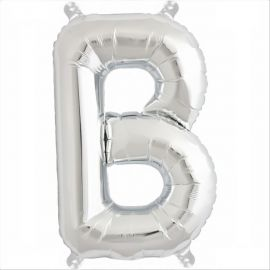 34 INCH SILVER LETTER B BALLOON