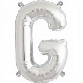 34 INCH SILVER LETTER G BALLOON