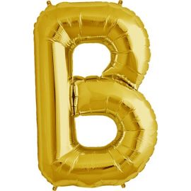 34 INCH GOLD LETTER B BALLOON