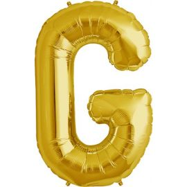 34 INCH GOLD LETTER G BALLOON