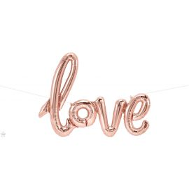 30 X 23 INCH LOVE SCRIPT ROSE GOLD 847881012872
