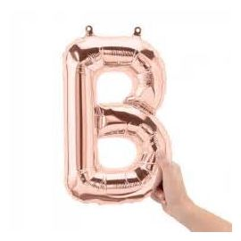 16 INCH AIR FILL ROSE GOLD LETTER B