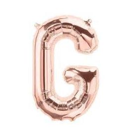 16 INCH AIR FILL ROSE GOLD LETTER G