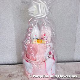 TWO TIER JOHNSONS NAPPY CAKE