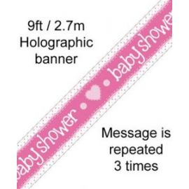 BABY SHOWER HOLOGRAPHIC BANNER 2.7M