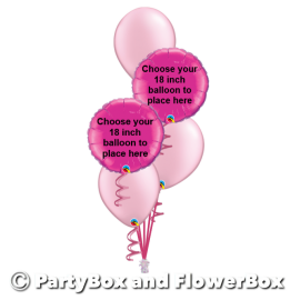 2  18 INCH PRINTED FOILS - YOUR CHOICE, 3 LATEX BOUQUET
