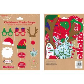 12PC CHRISTMAS PHOTO PROPS